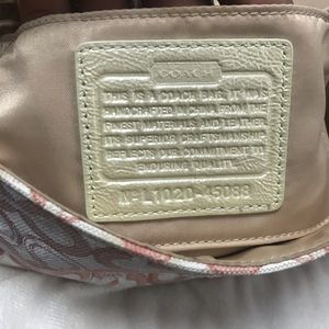 Coach Bags - Pink and White Coach Hobo with Sequins